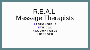 REAL massage therapists