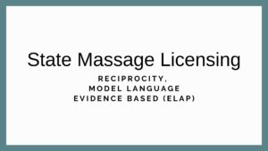 State Massage Licensing