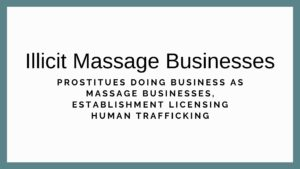 illegal massage businesses